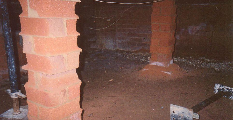 Salt Affected Brick Piers